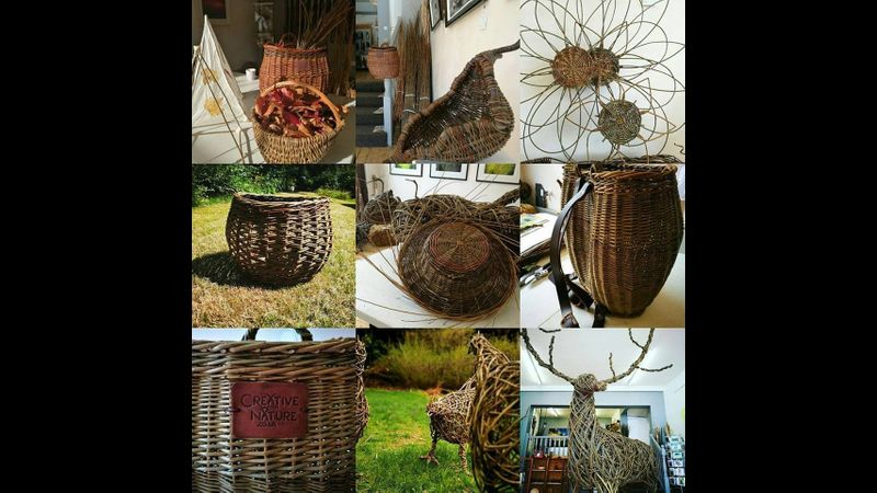 selection of Creative with Nature willow creations