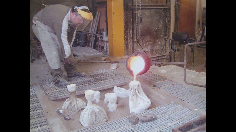 Bronze casting at New British Art