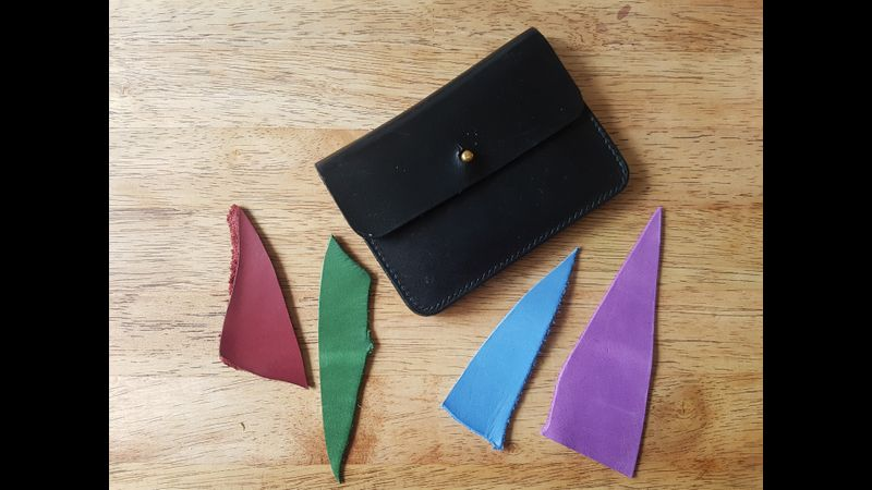 Concertina Purse Craft it Youself Practical Leather Course 3.5 hour. Quality accessories made by you