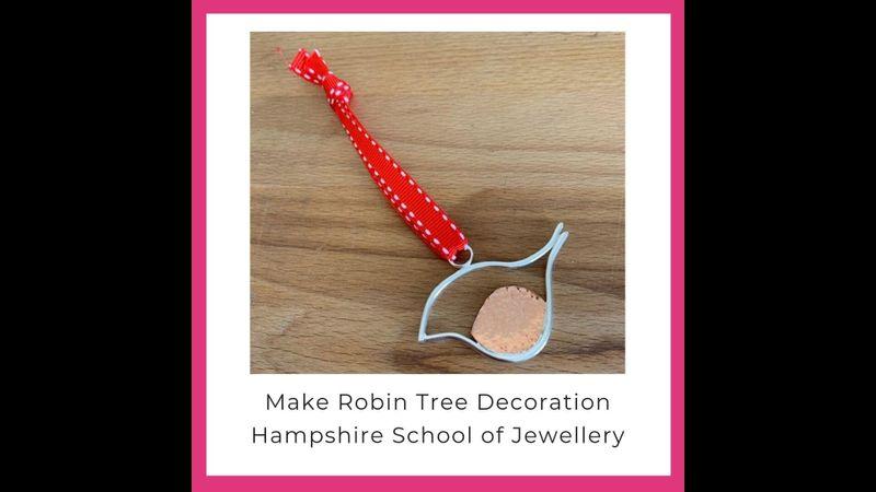 Make Silver Robin Decoration