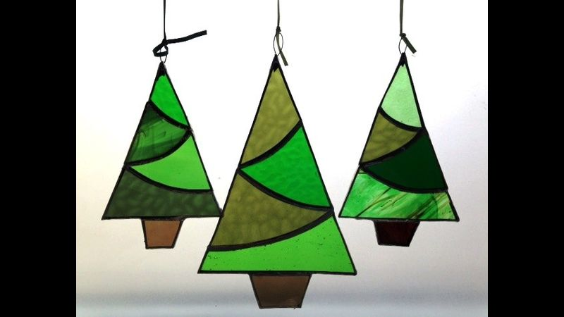 Christmas Tree Forest - stained glass workshop with Caryl Hallett