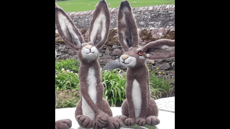 Needle Felt a Hare Quirky Workshop at Greystoke with Annis McGowan