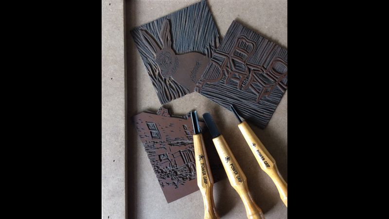 Lino cutting for beginners and rusty printmakers.