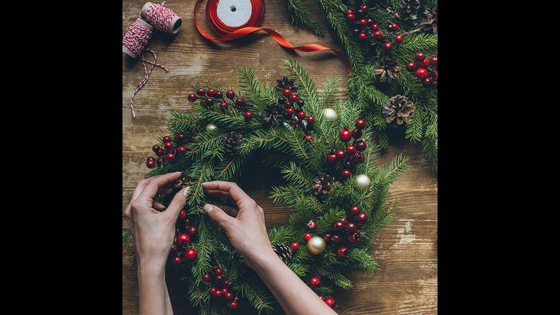 Christmas Wreath Making in Brighton
