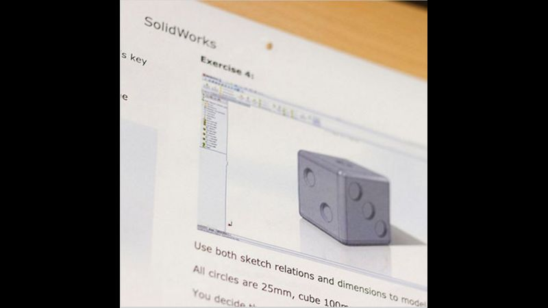 Example of CAD work on short course