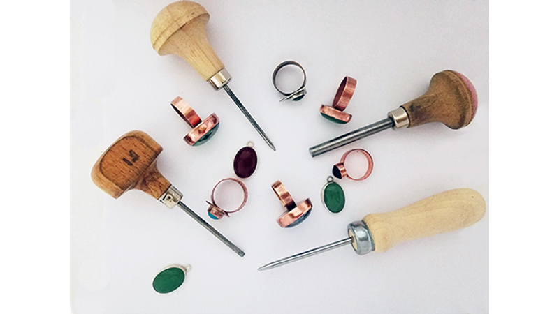 These tools are called 'pushers' they are used when forming the bezel stone setting.