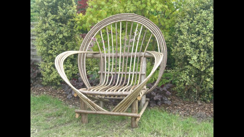 Bent stick chair course at Acton Scott