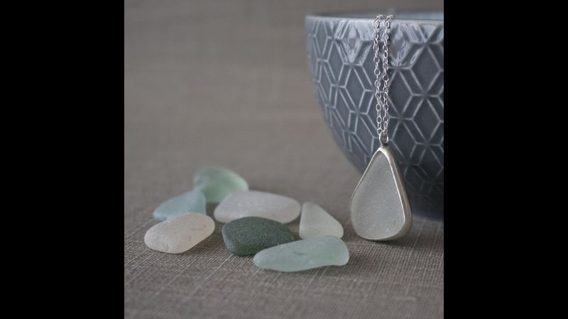 Sea Glass and Ceramics pendant workshop in Hampshire