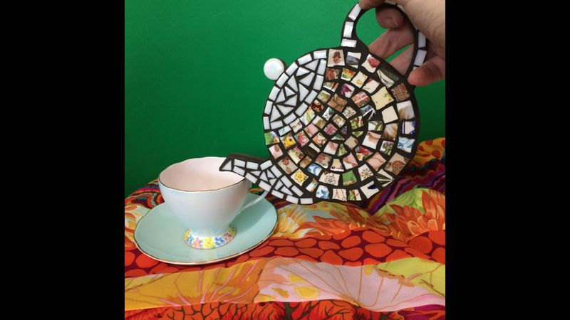 Make a teapot with vintage china