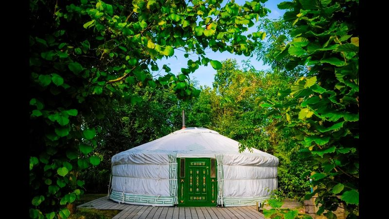 How about staying in a yurt ?