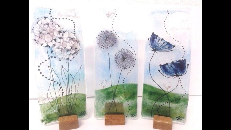 Fused Glass workshop with Karen Redmayne - a Quirky Workshop at Greystoke near Penrith and Ullswater
