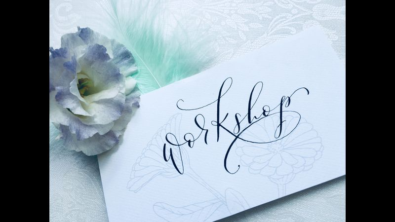 Modern calligraphy workshops in and around Marlow, Buckinghamshire. Private workshops available.