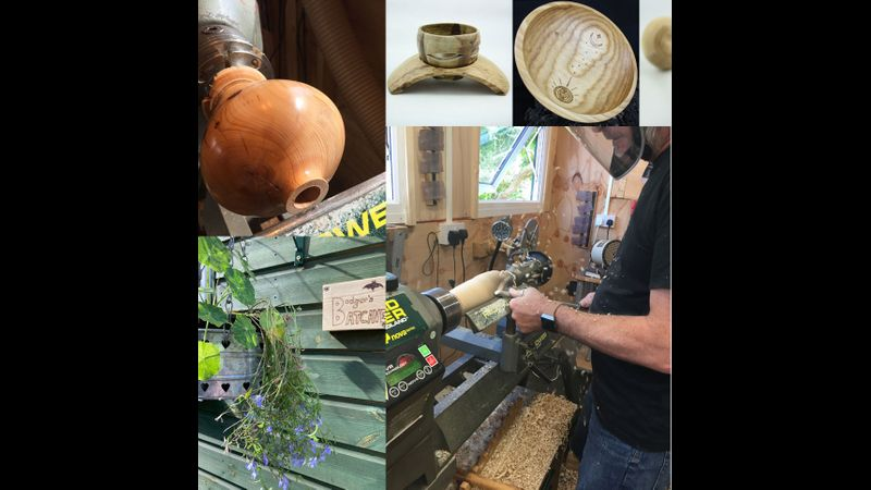 Join us for a woodturning workshop in our studio set in pretty gardens on the Norfolk/Cambs border!