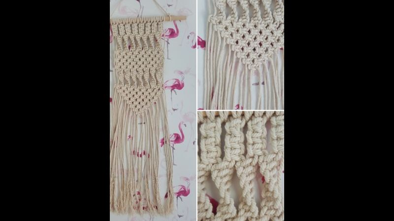 Macramé wall hanging with Craft My Day