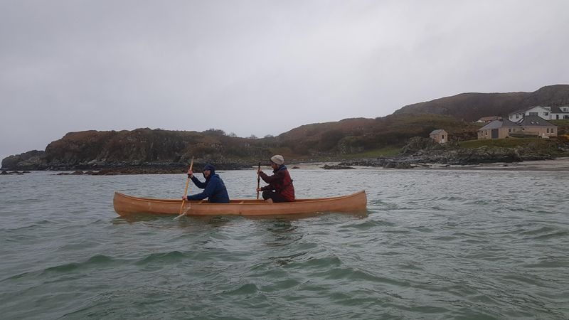 Paddling on Launch Day