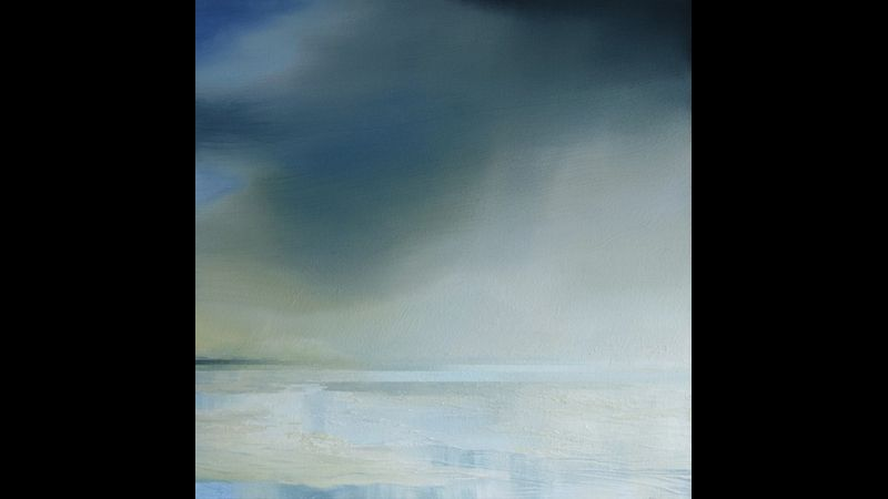 "Atmospheric oil painting ""Coastal Light no.13"" by Melanie Max"