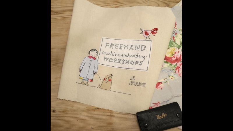 Freemotion Machine Embroidery class in Wokingham