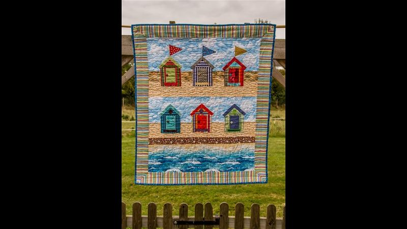 Beach Huts Quilt, Herefordshire workshops