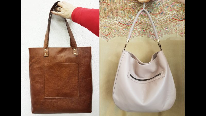 Tote or Hobo Bag - 6 leather colour choices