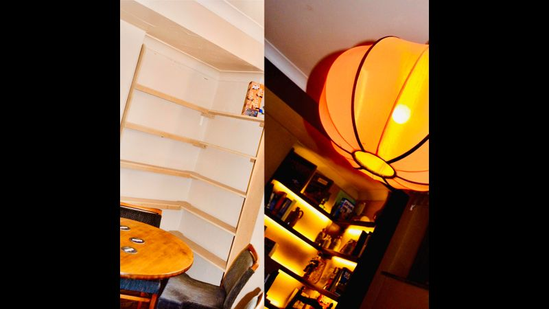 How you change space with colour, design and light a before and after