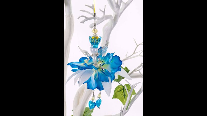 Silk flower fairy.