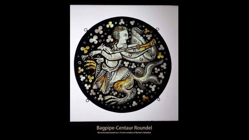 Bagpipe centaur roundel