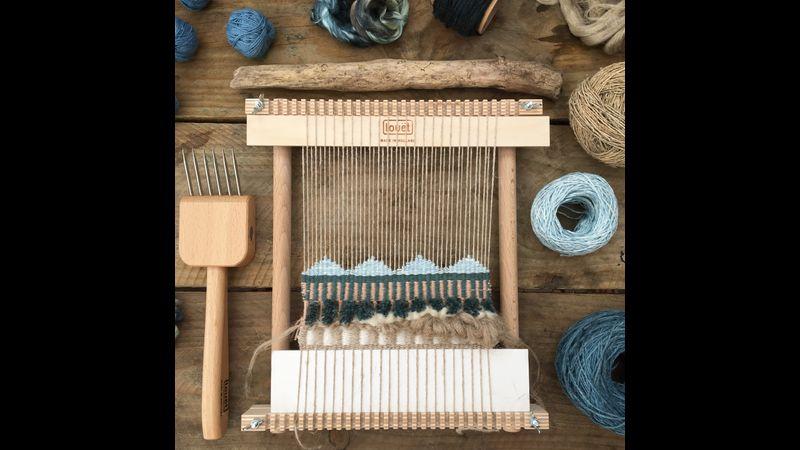 Blue indigo on the loom