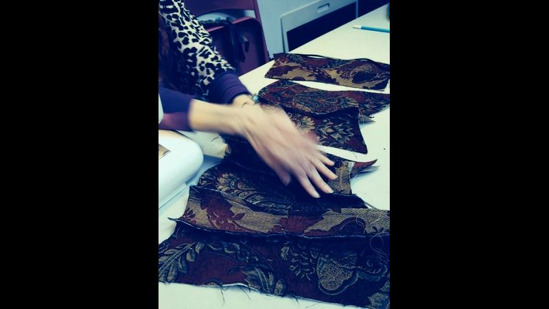 Piecing the Corset sections together