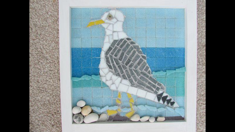 Hornsea mosaic seagull
