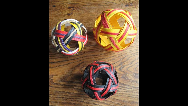 Woven six strand/Icosidodecahedron spheres