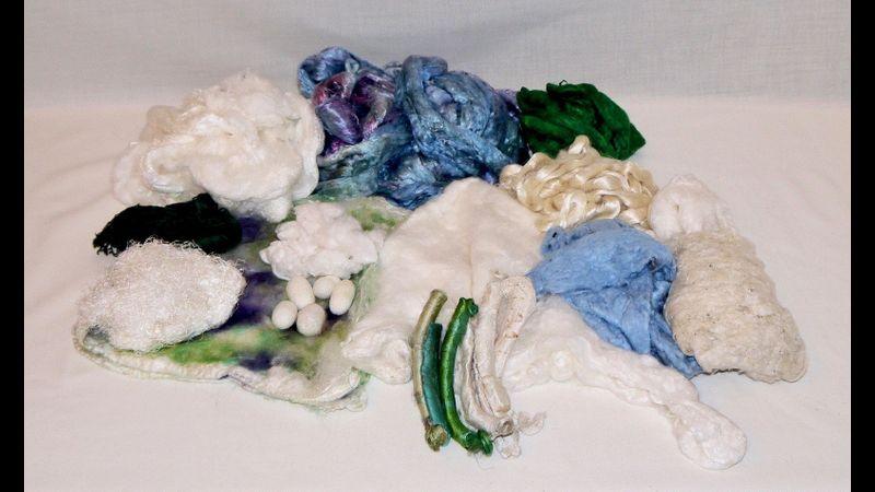 A range of beautiful silks