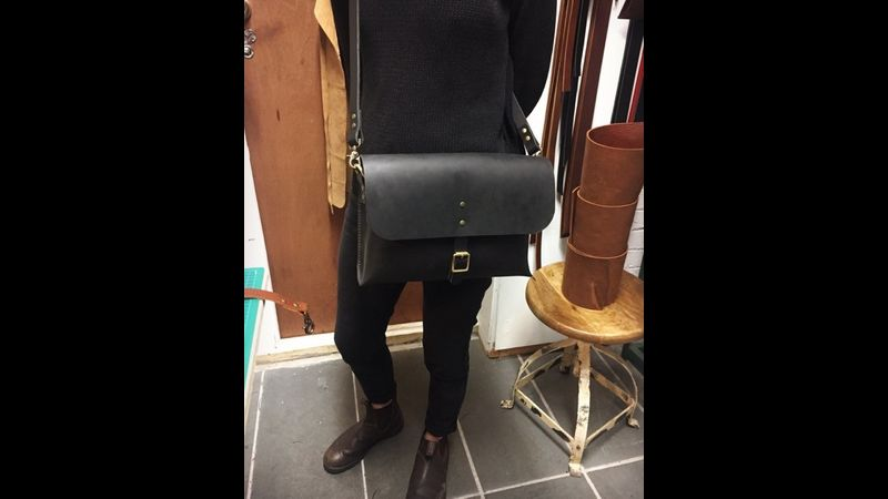 Saddle Stitched bag with our commissioned leather, great style