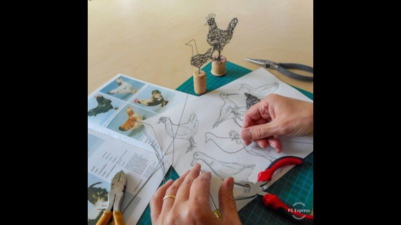 Create Tiny Wire Bird Sculptures.