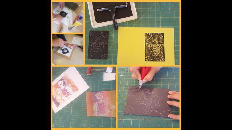 Learn Lino Cutting and Printing: online one to one Craft Workshop for beginners