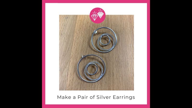 Make a pair of silver earrings with Hampshire School of Jewellery in Basingstoke