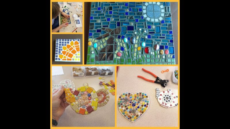 Making Mosaics: online one to one Craft Workshop for beginners