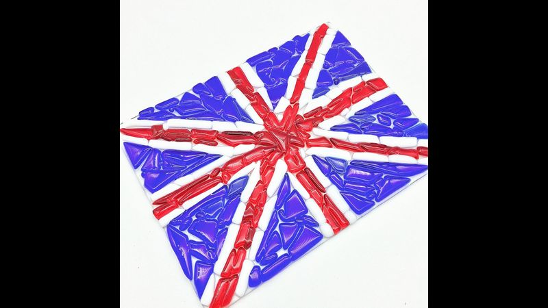 Fused glass Union Jack