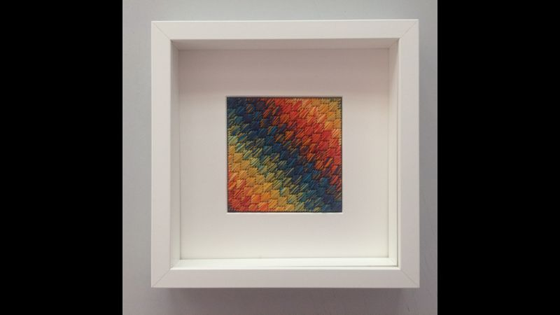 Framed stitched art work in your choice of colourway