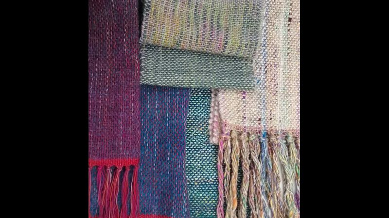 Scarves handwoven in a day