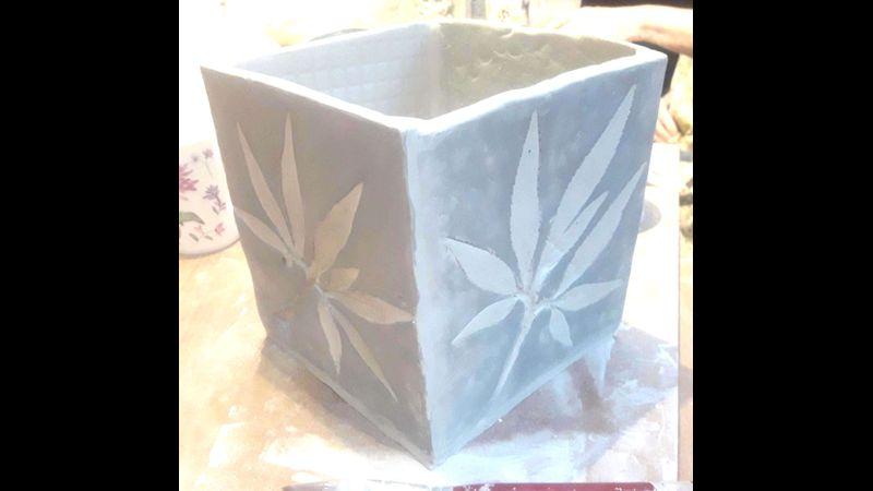 Make a textured Porcelain Planter- a Quirky Workshop @ Greystoke Craft Garden & Barns