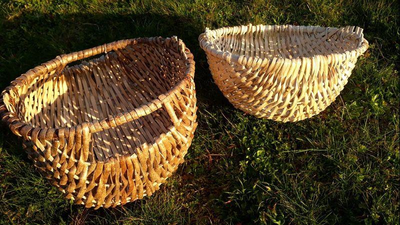 Split hazel basketry at Greenwood Days