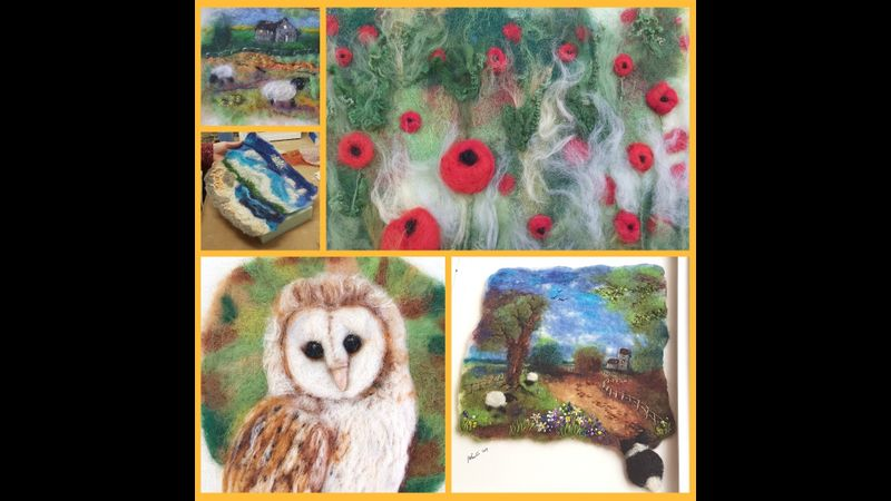 Online live craft workshop: How to needle felt pictures