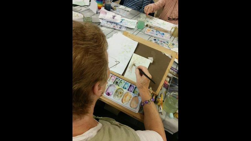 We will be experimenting and combining watercolour with other water-based media