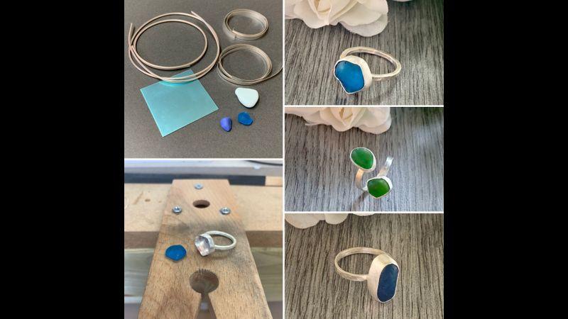 Bezel setting sea glass or stones