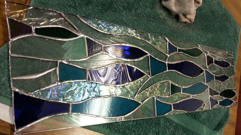 Copper-foiled door top panel