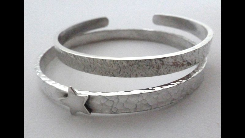 Silver bangles by Anna Vickers