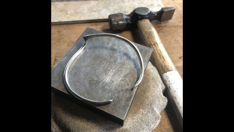 A freshly finished forged bangle!