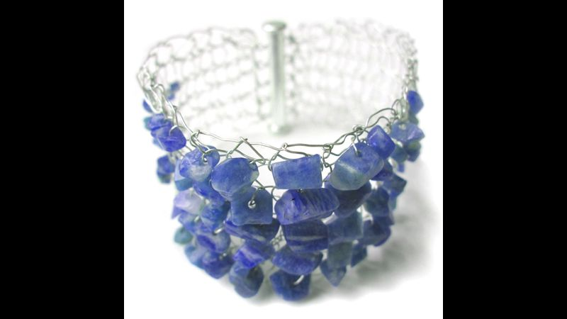 Sodalite semi-precious chip beads