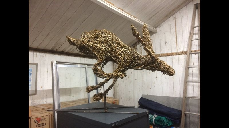 Sculpture of your choice day - students running hare
