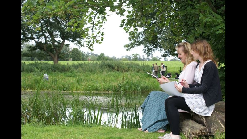 Contemporary impressionism in Constable country at Flatford Mill
